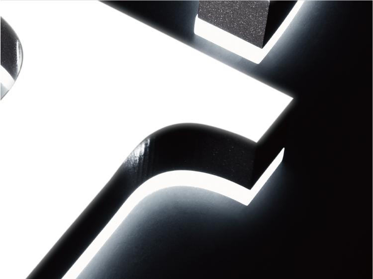 樹脂チャンネル文字加工詳細